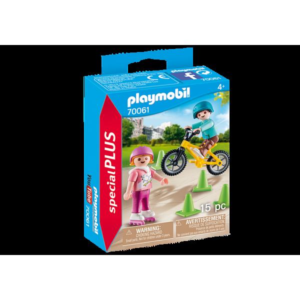 Playmobil 70061 Παιδάκια με πατίνια και ποδήλατο BMX