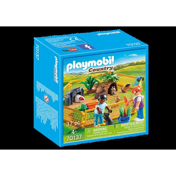 Playmobil 70137 Περιφραγμένος χώρος με μικρά ζωάκια