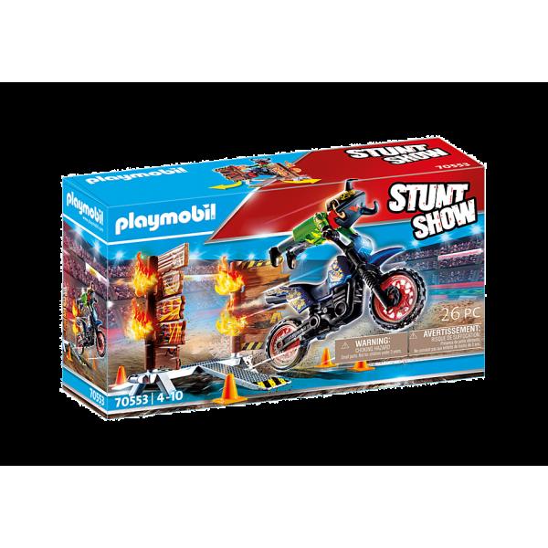 Playmobil 70553 Μηχανή Motocross με φλεγόμενο τοίχο