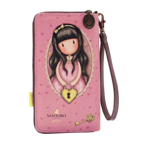 Πορτοφόλι με φερμουάρ Gorjuss The Secret Santoro