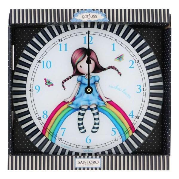 Ρολόι Τοίχου Gorjuss Rainbow Heaven Santoro