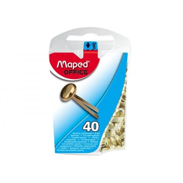 Συνδετήρες Διχαλωτοί 17mm 40τμχ Maped