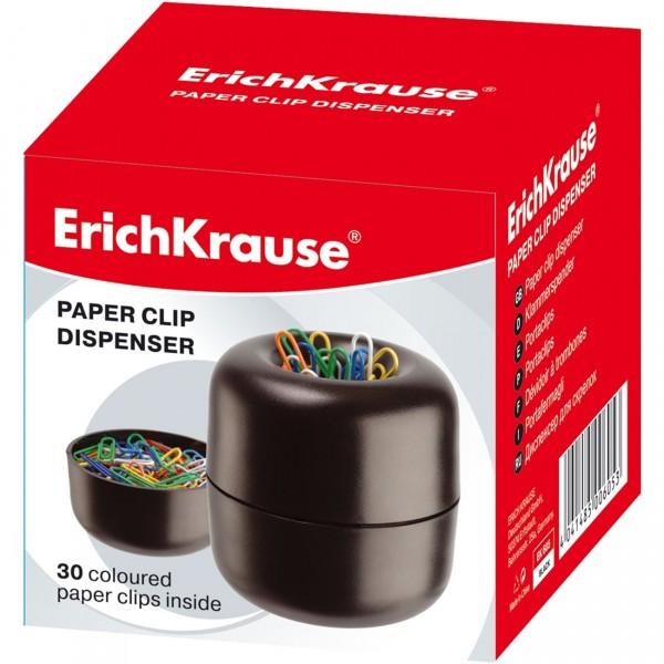 Θήκη Συνδετήρων Μαγνητική με 30 Συνδετήρες ErichKrause