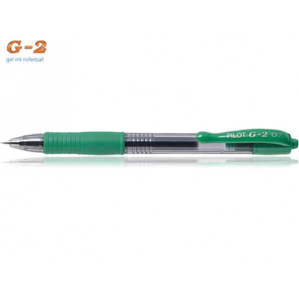 Στυλό G-2 0.7mm Πράσινο Pilot