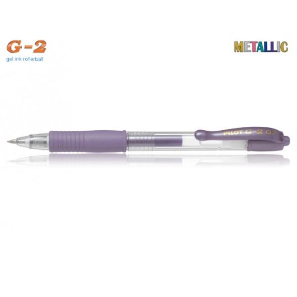 Στυλό G-2 0.7mm Μωβ Μεταλλικό Pilot