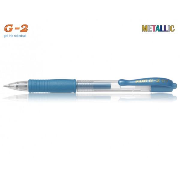 Στυλό G-2 0.7mm Μπλε Μεταλλικό Pilot