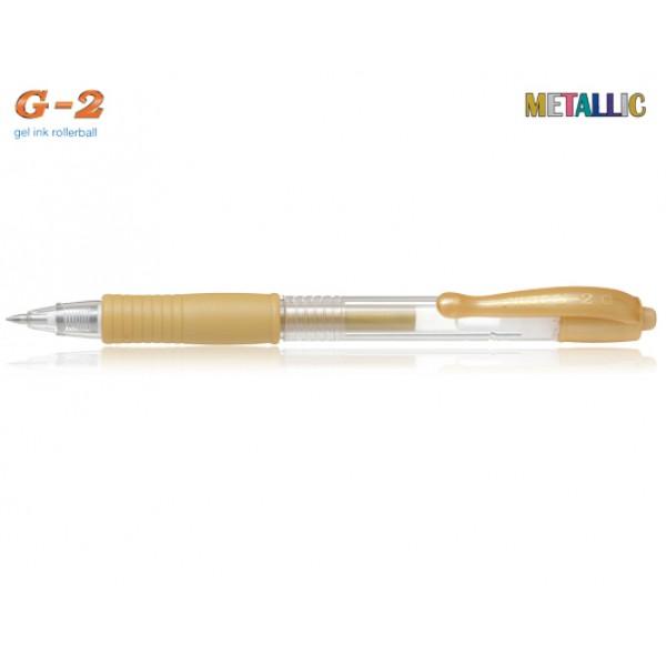 Στυλό G-2 0.7mm Χρυσό Μεταλλικό Pilot
