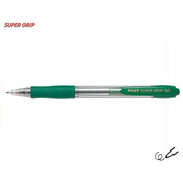 Στυλό Super Grip Pilot Medium 1.0mm Πράσινο