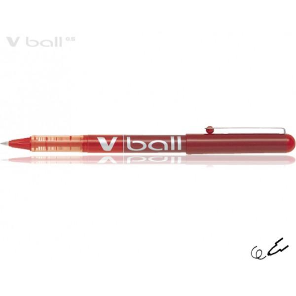 Στυλό Μαρκαδόρος V-Ball 0.5mm Κόκκινο Pilot