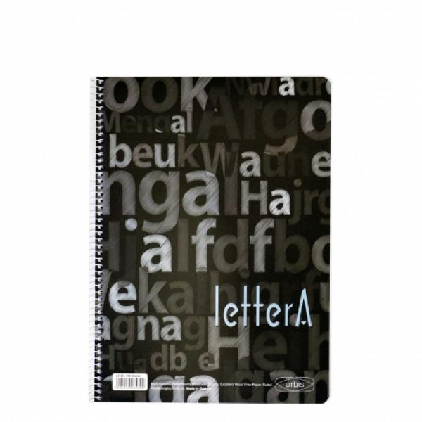 Τετράδιο Σπιράλ 1 Θέματος 17x25 (σε 4 Χρώματα) Lettera Orbis