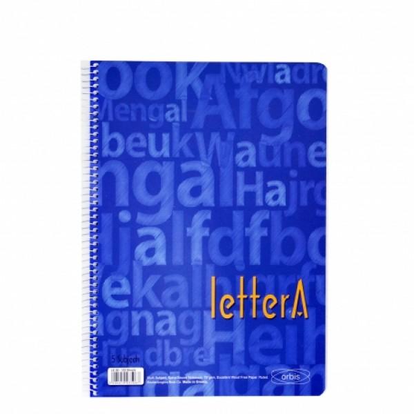 Τετράδιο Σπιράλ 2 Θεμάτων 17x25 (σε 4 Χρώματα) Lettera Orbis